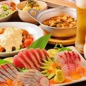 高知の魚を中心に和食と中華で彩る宴会コース