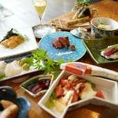 季節の食材を使った、お料理コース(全7品程度)です。 ※5名様より個室利用可能です。