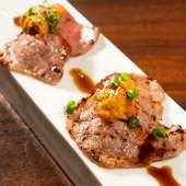 飛騨牛炙り雲丹のせ寿司