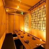 プライベートな食事に。幅広いシーンに対応する個室席