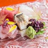 漁港直送の鮮魚で彩る『お造り盛り合わせ』