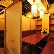 扉付きの個室で肉バルメニューを楽しめるお店。総席数90席、最大12部屋の個室を用意可能。プライベートな空間でじっくり肉バルメニューを堪能できます。