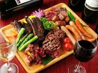 豪華賢覧、こだわりお肉が夢の競演。お店自慢の肉を思う存分味わいつくしてみませんか。
