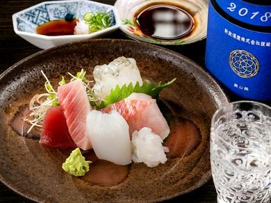 格好の酒の肴。その時季最高の鮮魚で彩る『お造り盛り合わせ』