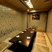 ビジネス利用から和やかな宴会まで多岐に渡るシーンに最適な個室