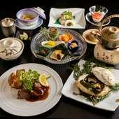 日本料理の奥深さと美味しさを、心ゆくまで味わえる『会席コース 藤(ふじ)』