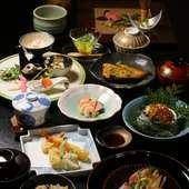 季節の厳選食材に職人技をこらした日本料理の『会席コース 鮮(あざやか)』