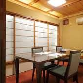 多彩なシーンに寄り添う、落ち着いた雰囲気の個室空間を設え