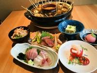 肴4000円の(駿河コース) 当店独自の「みそでん鍋」(商標登録)を囲んでの宴会コース。
