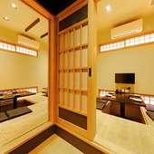 多彩な利用シーンに対応できる、掘りごたつタイプの完全個室