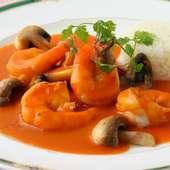 高級食材の伊勢海老の旨味を堪能できる一品『海老のソテー ソースアメリケーヌ』