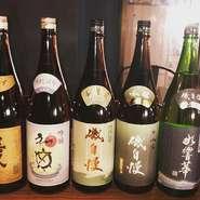 磯自慢は大吟醸、吟醸、本醸造を揃えています。その他 フルーティーな初亀、日本一の普通酒との噂もある喜久酔をお楽しみください。