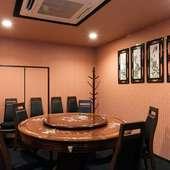 最大35名定員の個室は、会社の会合にも利用可能
