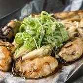 地元産の牡蠣を使用し、ぷりぷりの食感が楽しめる『牡蠣』
