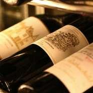 DRCや入手困難カリフォルニアワインをはじめとする名だたる銘醸ワインは、最高の焼肉とのマリアージュで構成させていただきました。ソムリエが常駐しお客様のお好みに合わせてご提案させていただきます。