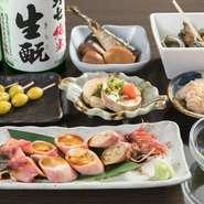季節ごとの素材は豊富な一品料理でも愉しめるので、日本酒や泡盛など杯をゆったり傾けたい方には特におすすめ。『白子の千年漬け』など、素材の魅力をさらに引き出すひと手間が光ります。