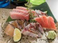 沖縄産鮮魚もマグロも絶品『お刺身盛り合わせ』