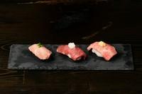 牛寿司3種盛り(3貫)