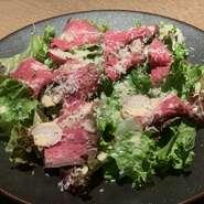 山形牛のローストビーフサラダ