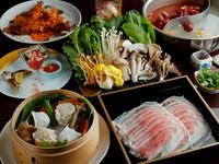 水連よりも豪華な前菜・蒸し物・逸品で薬膳火鍋以外でも楽しめるコースです。