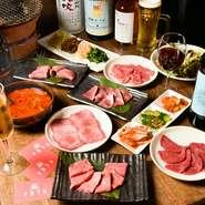牛肉をはじめ、取り扱う肉は全て産地やブランドにこだわらず、目利きで厳選したこだわりの肉ばかり。価格も比較的リーズナブルな設定です。上質な味わいを是非、賞味あれ。
