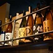 厳選焼肉に最適な一杯。品揃えも豊富なワインや焼酎を堪能