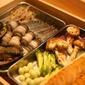 旬の山海の幸を堪能『四季折々の厳選食材を使用した上質な天ぷらを堪能できるコース』
