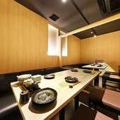 プライベート空間で、リラックスしながら食事を楽しめる