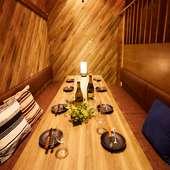 使い勝手が良く過ごしやすい、全席個室の席をご用意