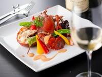 海鮮三種鉄板焼&黒毛和牛ステーキがメインの、芳で一番人気のコース選ぶお肉により価格が変わります