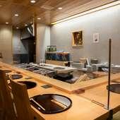 寿司も一品料理も味わい尽くせる、会席コースと共におもてなし