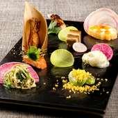 四季を彩る、田村シェフのスペシャリテの数々『運気の上がる前菜盛り合わせ』