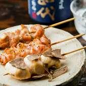 甘みがあり、脂肪分も少ないため旨みが強く、歯ごたえが適度にある鶏肉『近江軍鶏』