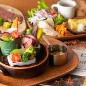 野菜もお肉もバランスよく食せる、多彩なメニューが自慢