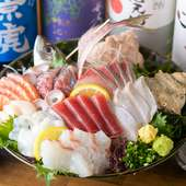 新鮮な魚介を心ゆくまで堪能できる。リピート必須の一皿