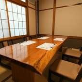 4名から利用できる変幻自在の個室は、さまざまな場面に対応