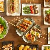 リーズナブルな価格でおなか大満足! 焼鳥や鍋以外の鶏料理が堪能できる『さとりスタンダードコース』