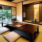 気軽なランチタイムから、冠婚葬祭まで利用可能な日本料理店