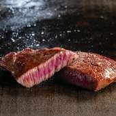 さすがA5ランク、赤身と霜降りを好みで選べる『黒毛和牛の最高級ステーキ』