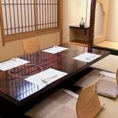 ご家族でのお食事や接待・会食に個室がおすすめです