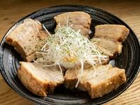 トロトロの食感よりも食べ応え重視の『豚の角煮~温玉添え~』