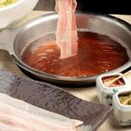 打ち野菜(キャベツ)、自家製胡麻ダレ、柚子胡椒、叩き梅、自家製辛味噌