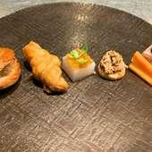 アミューズ、十勝産の食材を使用したスナック5種