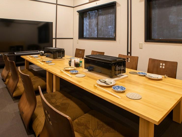 個室(座敷)は、最大11名様までご利用可能です。