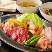 旬の野菜を焼き野菜、サラダでお楽しみ下さい。