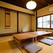 ゆったりと落ち付いた空間で味わう、福井の四季折々の味覚