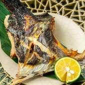 新鮮な旬魚を備長炭で炭火焼き『サワラの塩焼き』
