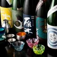 多種多様なアルコールを取り揃え。中でも日本酒にこだわっていて、限定ものや希少なものを楽しめます。2時間飲み放題付きのコースもあり、酒好きの方もきっと満足できるハズです。