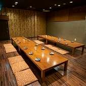 仕切りを使い部屋の大きさを変更、少人数から団体まで自在に対応