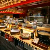 常時13~14種類くらいの京風料理を用意。地産地消も楽しめる